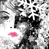 abstract illustration of a winter woman