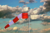 windsock over stormy sky