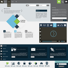 Professional Flat Web Design Template