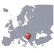 Europakarte mit Montenegro