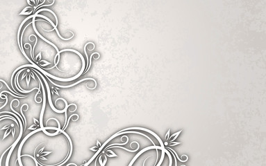 Cut of paper style decor on a aged background