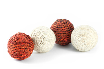 Four clews for knitting