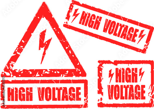 High voltage rubber stamp