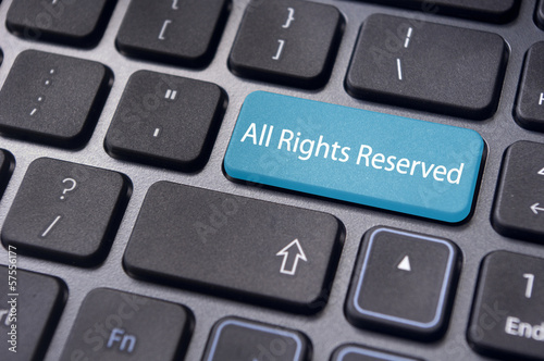 all rights reserved message on keyboard