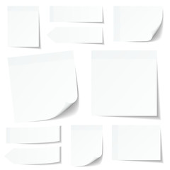 Collection White Stick Notes