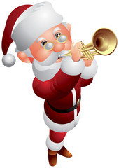 Santa Claus Trumpeter Christmas Musician