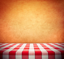 Tablecloth on Wall