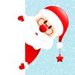 Santa Glasses & Beard Star Banner