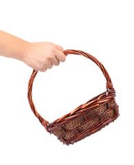 Vintage weave wicker basket.