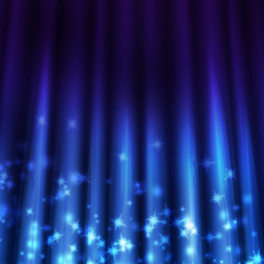 blue background with beams of light