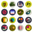 Vector set of geometric abstract flat icons
