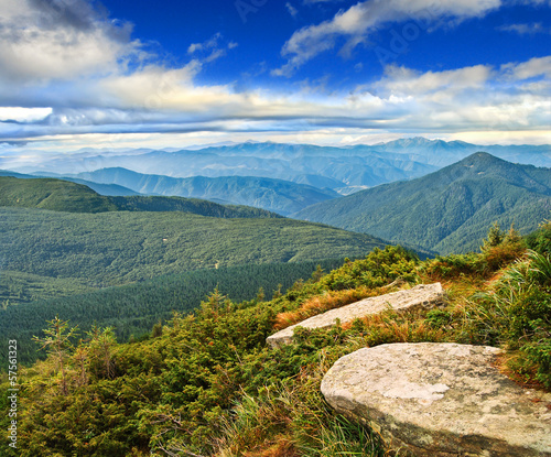 ridges of the Carpathian mountains