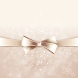 Fototapety Vector christmas background with  bow