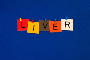 Liver - sign for Medical Health Care and Biology