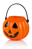 Halloween Pumpkin, Jack O Lantern, on white with clipping path.