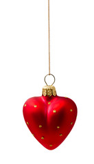 Perfect red christmas ball isolated on white