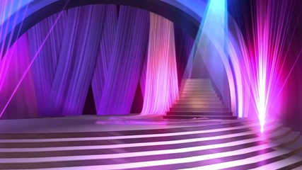 Animierte Show-Bühne als Hintergrund