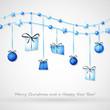hängende geschenke blau