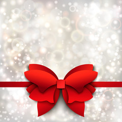 Abstract Christmas background with red bow