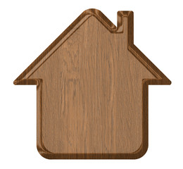 Wooden home icon
