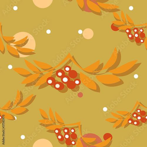 Seamless pattern with autumn leaves. Vector illustration.
