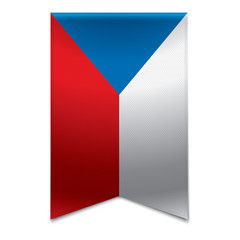 Ribbon banner - czech republic flag