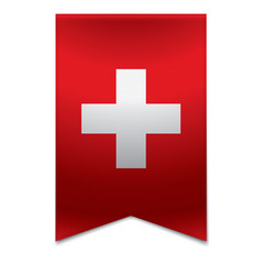 Ribbon banner - swiss flag