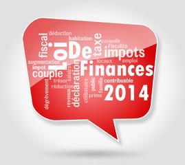Nuage de mots : Loi de finances 2014