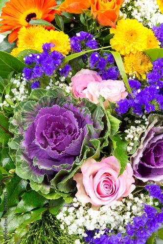 Fridge magnet Zwei Blumenstraeusse 5