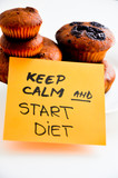 Keep calm and start a diet poster