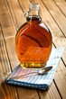 maple syrup in glass bottle