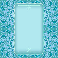 Blue frame with fancy floral pattern