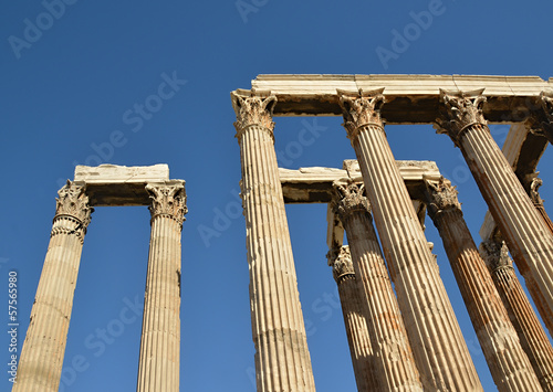 The Temple of Olympian Zeus Athens Greece