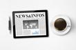 Tablet Pc mit News & Infos