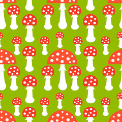 Seamless toadstool pattern