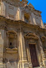 Saint James church facade in Valletta, Malta