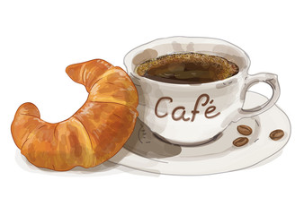 Frühstück gemalt