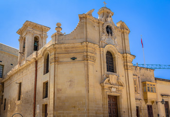 The Church of Our Lady of Victory in Valletta