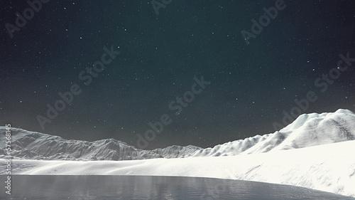 Leinwanddruck Bild Snow in the Arctic