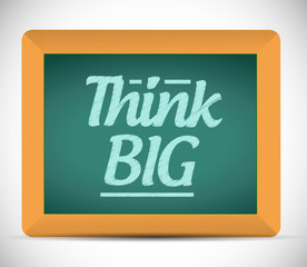 think big message illustration design graphic.