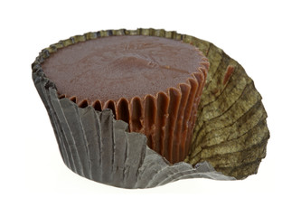 Peanut Butter Cup Partially Wrapped