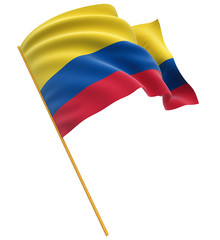 3D Colombian flag  (clipping path included)