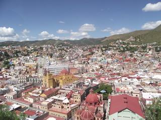 vue des toits d'un village mexicain