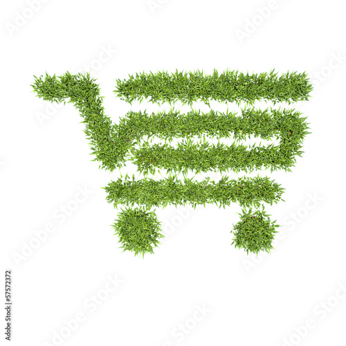 organic shopping cart, eco symbol concept