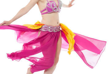 Photo of a belly dancer in traditional costume