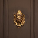 Doorhandle in the form of lion muzzle