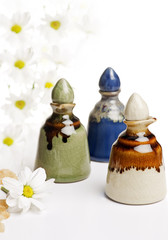group of decorative vials ..