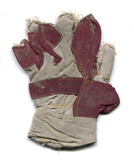 Gebrauchter schmutziger Handschuh
