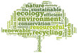 Word cloud related to ecology and environment
