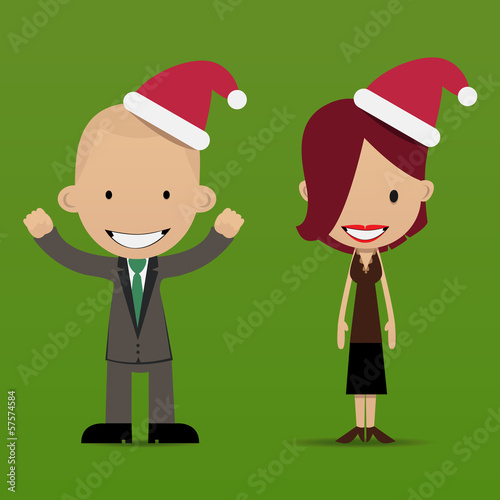 Christmas&business people